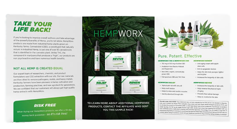 free hempworx sample pack